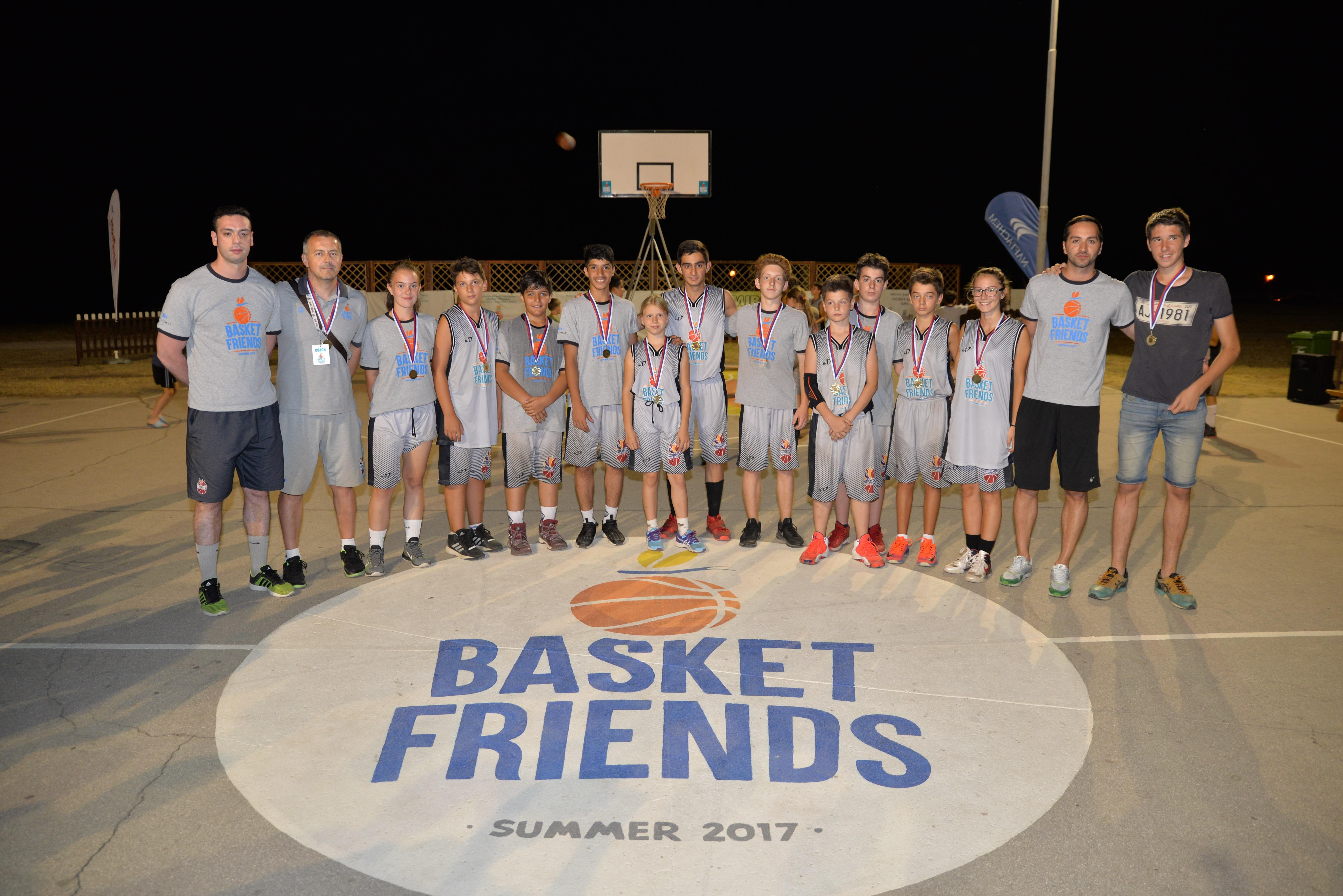Basketfriends 2017. - winning team second shift